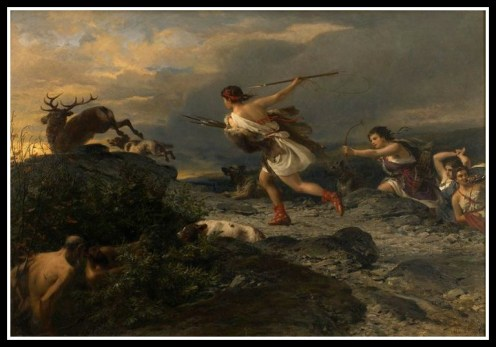 """Diana the Huntress"" by Nikolaus Baur (1870)."